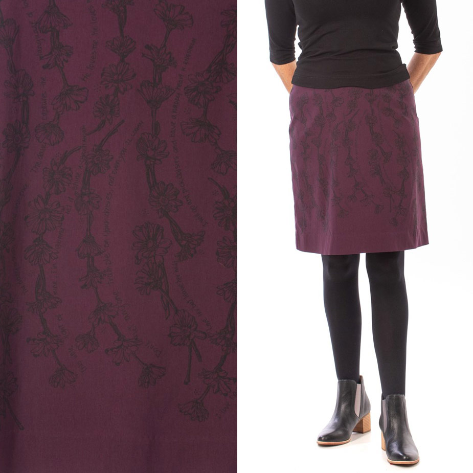 model Daisy Chain Purple skirt