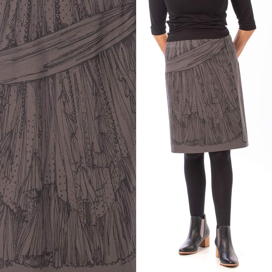 model Frills and Flounces grey skirt