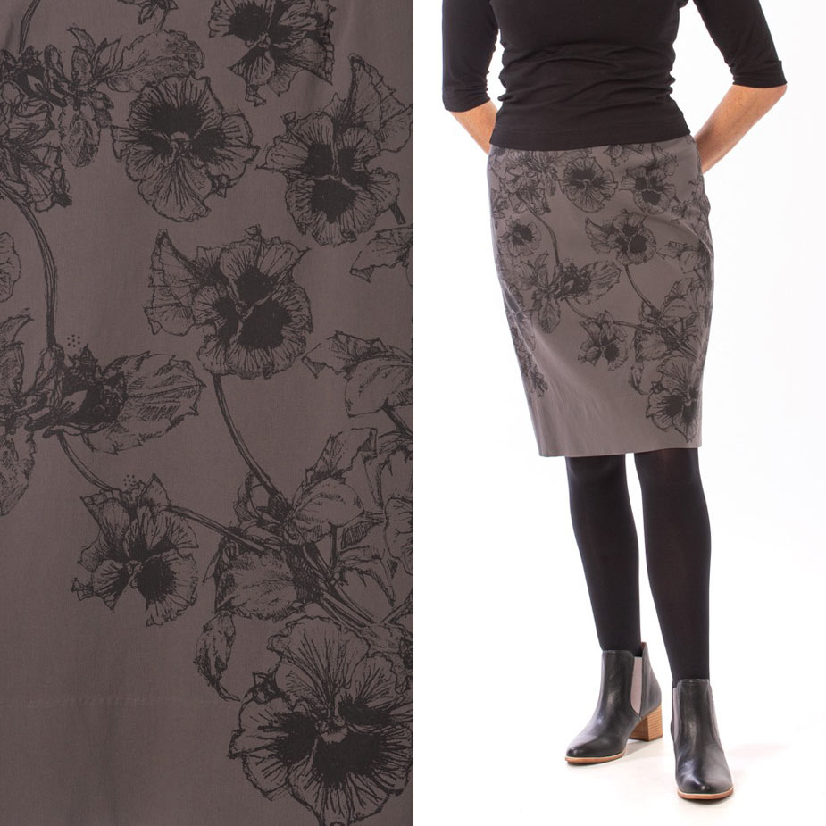 model pansy grey skirt