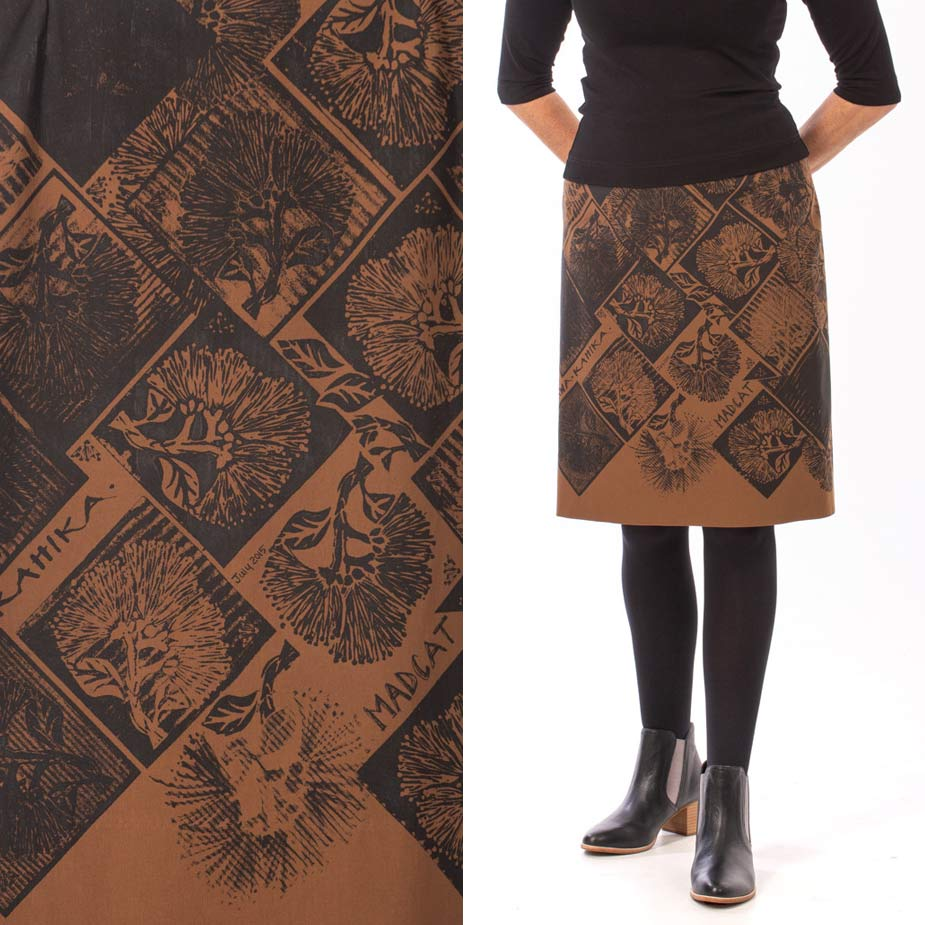 model pohutukawa bronze skirt