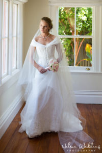 Corset Wedding Dress With Collar