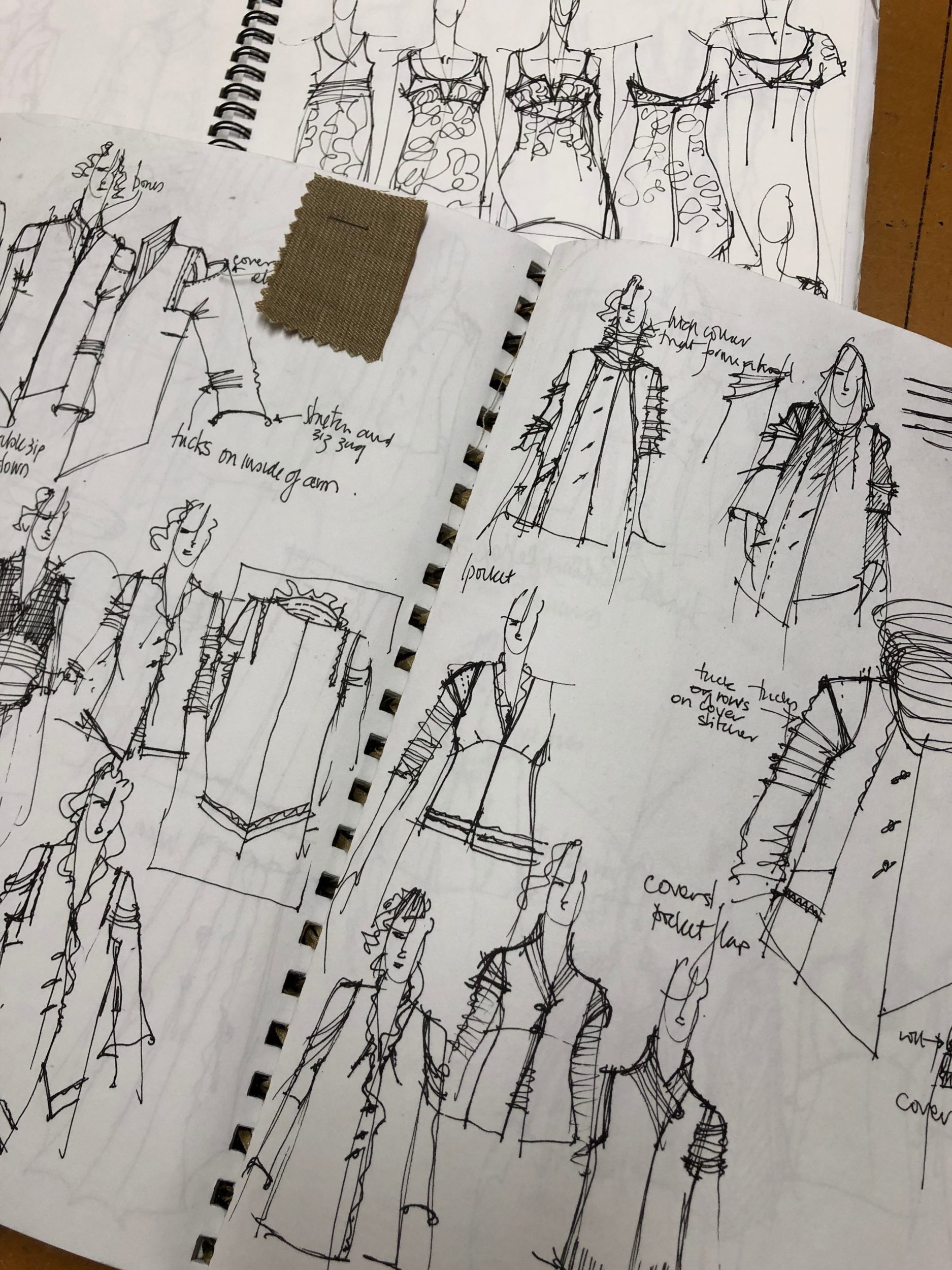 Sketches Of Clothing By Jill At Madcat Design