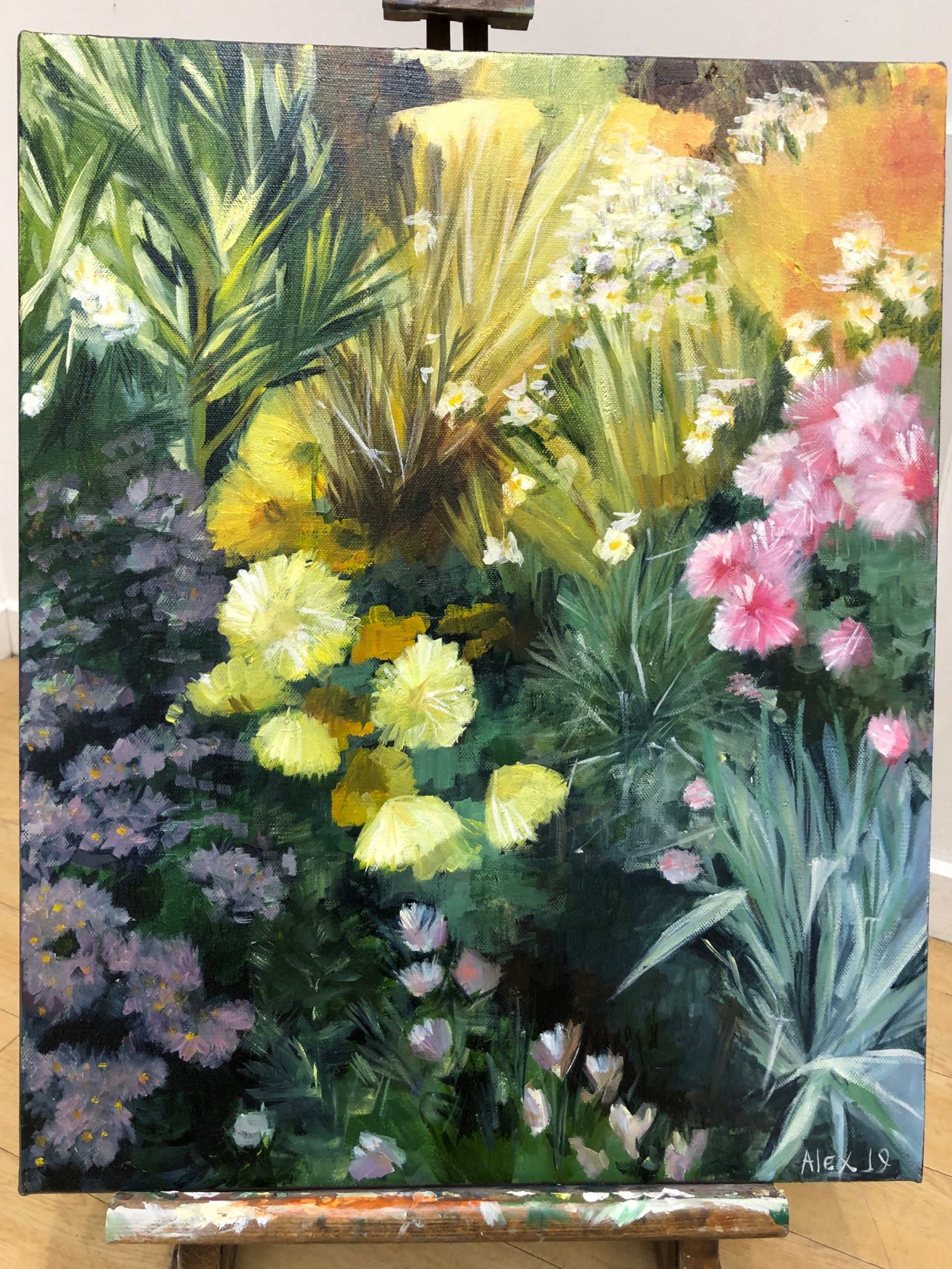 Image of flowers painting by Jill at Madcat Design