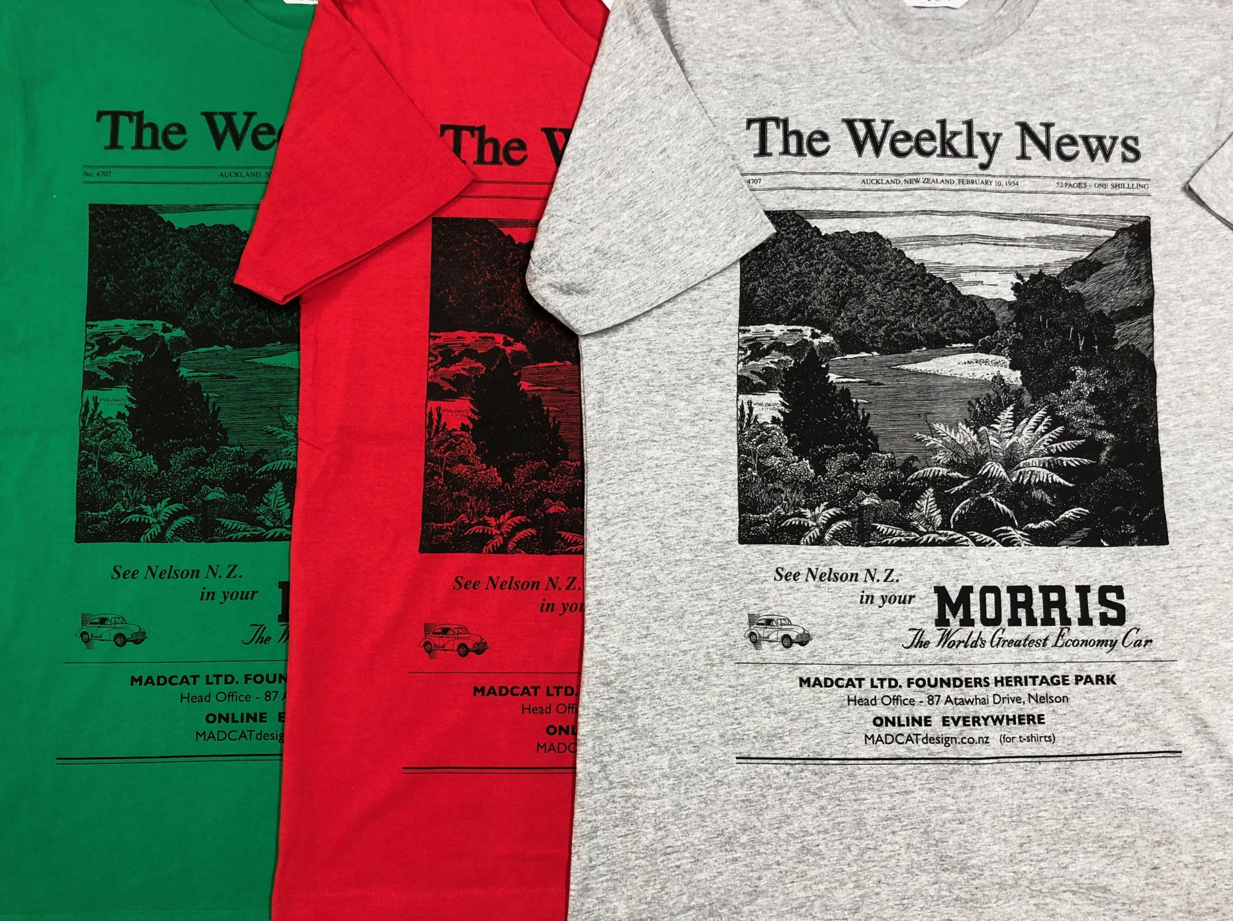 The Weekly News T shirt for Men, all colours