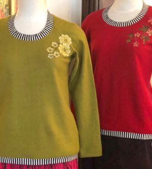 Cosy Wool Jumper With Free Hand Machine Embroidery